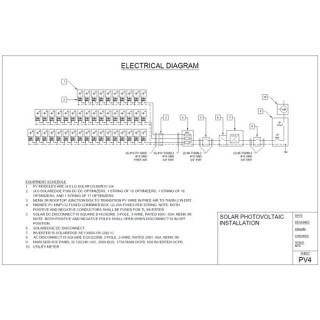 PV System Layout and Single-Line Drawing for Grid-Tie with Battery Backup