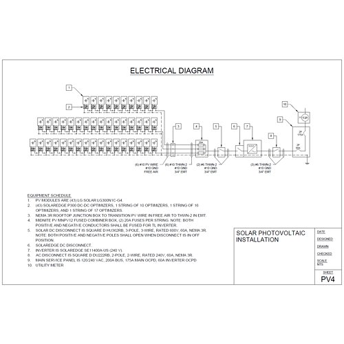 Phenomenal Pv System Layout And Single Line Drawing For Off Grid Res Supply Wiring Database Liteviha4X4Andersnl