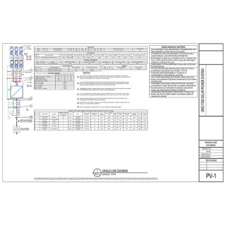 Single-Line Drawing for Grid-Tie PV System