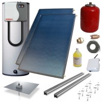 Heliodyne HPAK2-406GF65E Solar Hot Water System Kit