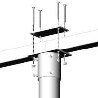 DPW PC-6V4X4H Multi-Pole Mount Pipe Cap