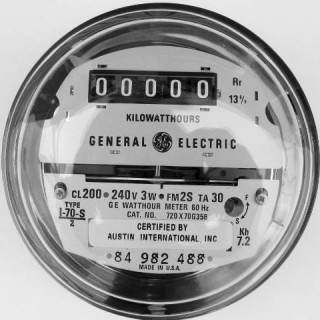 GE Kilowatt Hour Reconditioned Utility Meter